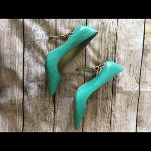 ABS  heels color Tiffany blue